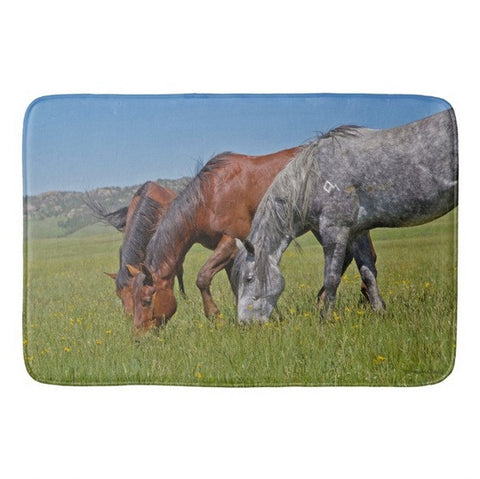 Grass Grazing Time Bath Mat