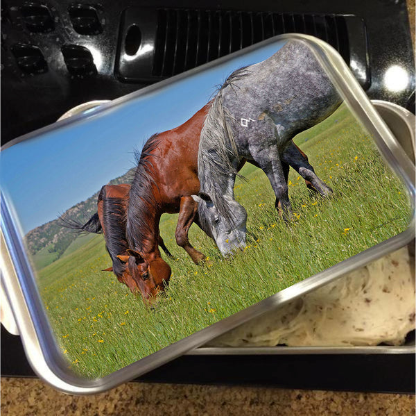 Grass Grazing Time Cake Pan with Lid