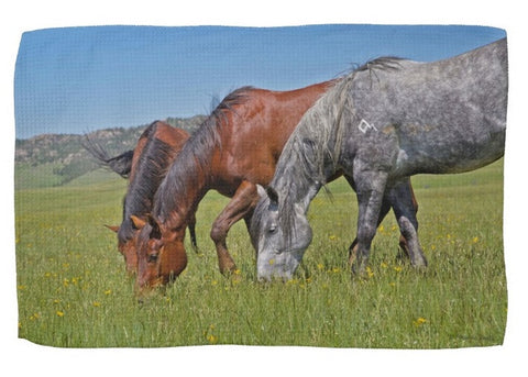 Grass Grazing Time Kitchen Towel