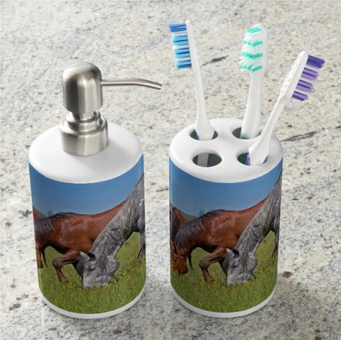 Grass Grazing Time Bathroom Set