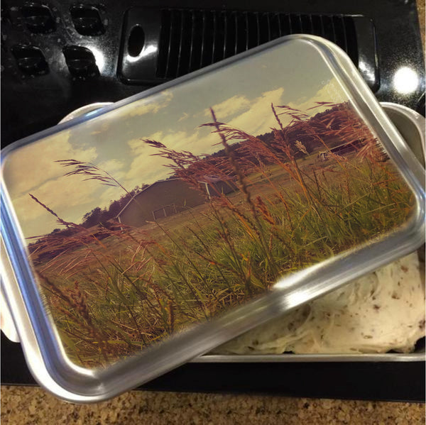 Green Acres Cake Pan with Lid