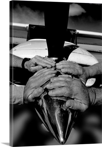 Hands of the Pilots for Christ Inspirational Canvas Print