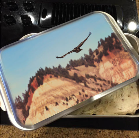 Have You Never Seen a Hawk on the Wing Cake Pan with Lid