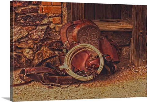 Head Wrangler's Saddle Canvas Print