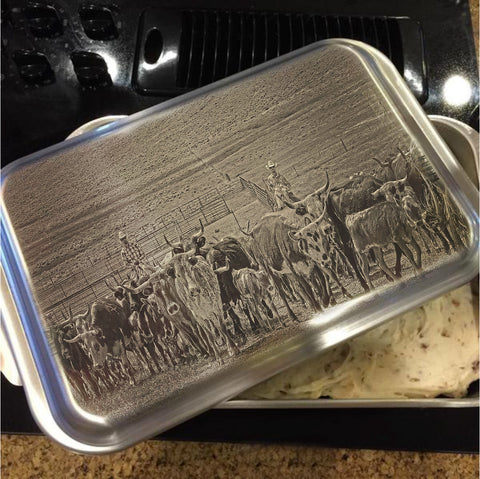 Heading Back to Open Range Cake Pan with Lid