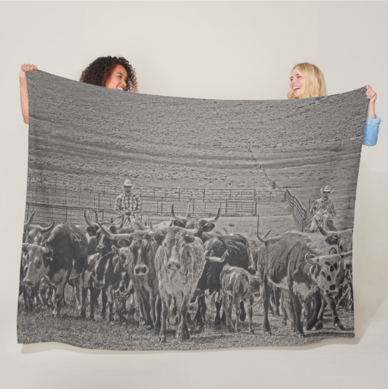 Heading Back to Open Range Fleece Blanket