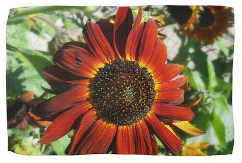 Hearts on Fire Sunflower Kitchen Towel