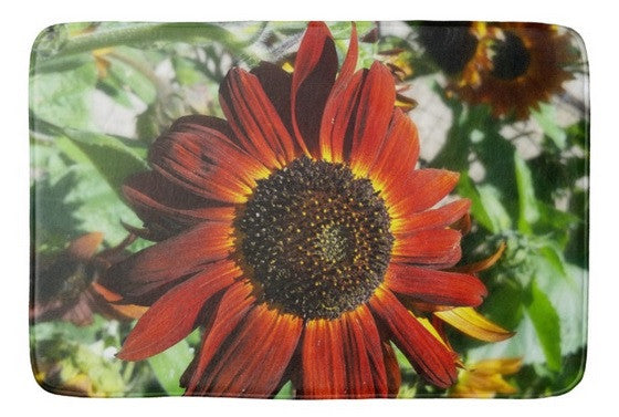 Hearts on Fire Sunflower Bath Mat