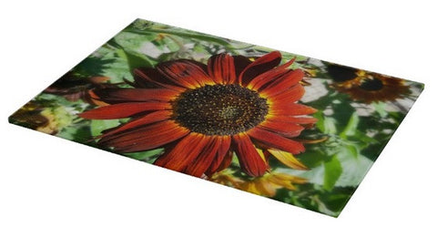 Hearts on Fire Sunflower Cutting Board