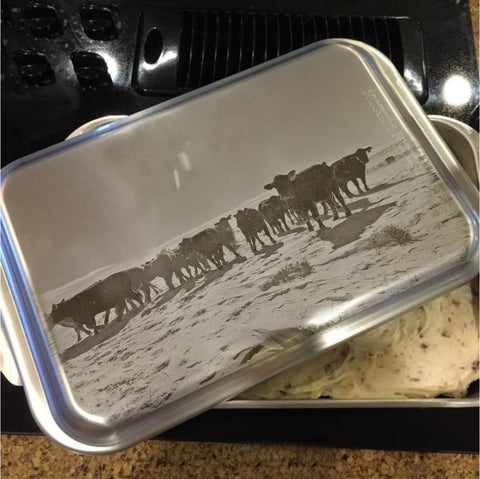Heifers In The Snow Cake Pan with Lid