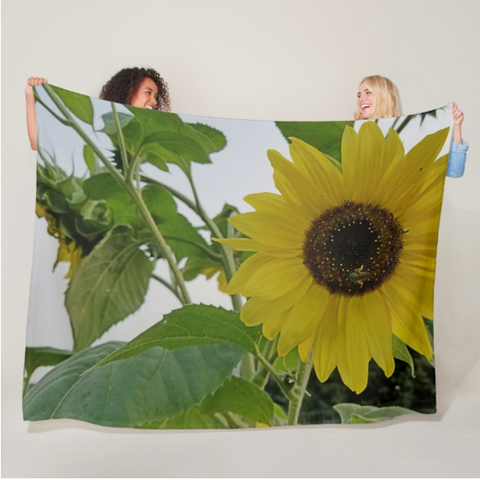 Hello Yellow Fleece Blanket