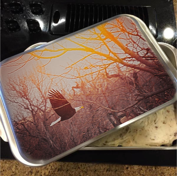 Home by Sunset Cake Pan with Lid