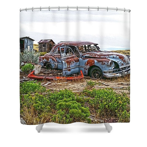 Homestead and Pontiac Shower Curtain