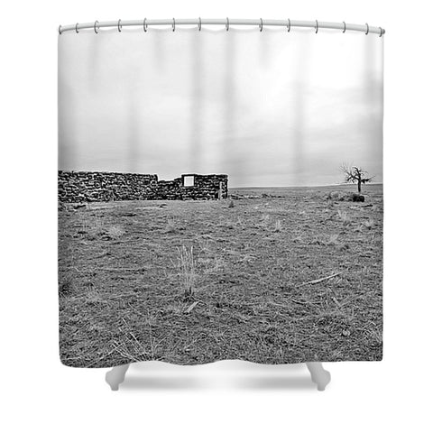 Homestead and Tree Shower Curtain