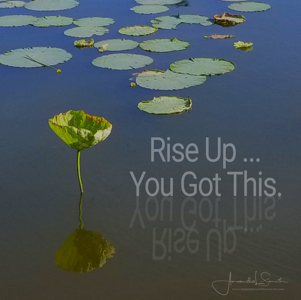 Rise Up Inspirational Canvas Print