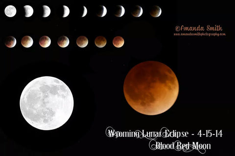 Lunar Eclipse/Red Moon, Study for Instruction. Wyoming