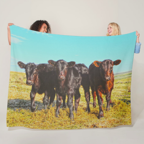 In the Mood for Hay Fleece Blanket