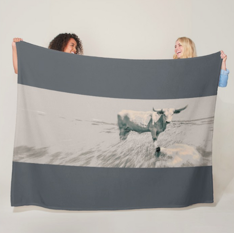 In the Still of the Grey Fleece Blanket