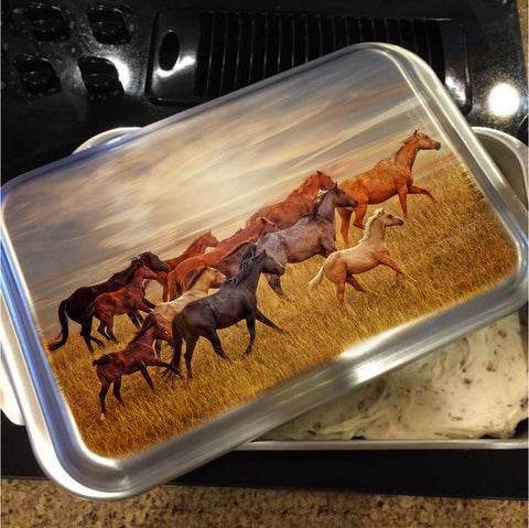 Last Light's Run Cake Pan with Lid