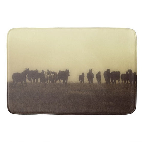 Last Run at Dusk Bath Mat