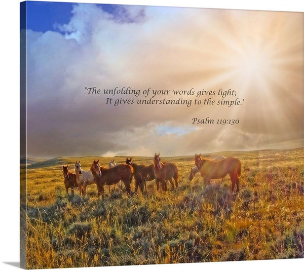 Led by the Light Inspirational Canvas Print