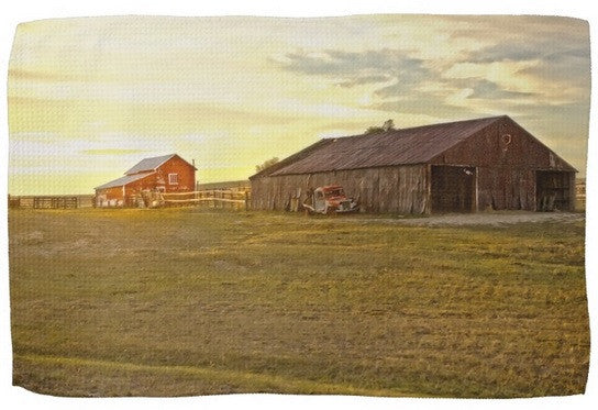 Leuenberger Barn at Sunset Kitchen Towel