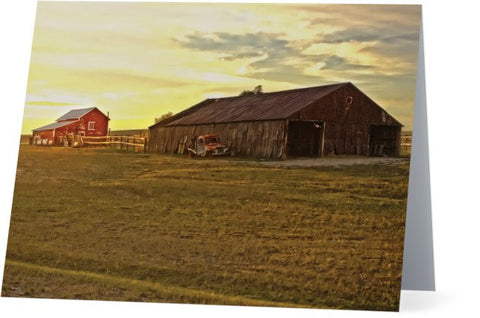 Leuenberger Barn at Sunset Note Cards and Greeting Cards (25 Pack)