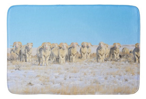 Line Em Up Rams Bath Mat