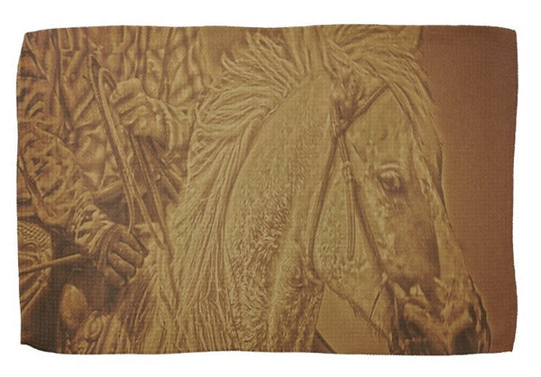 Listening in Sepia Kitchen Towel