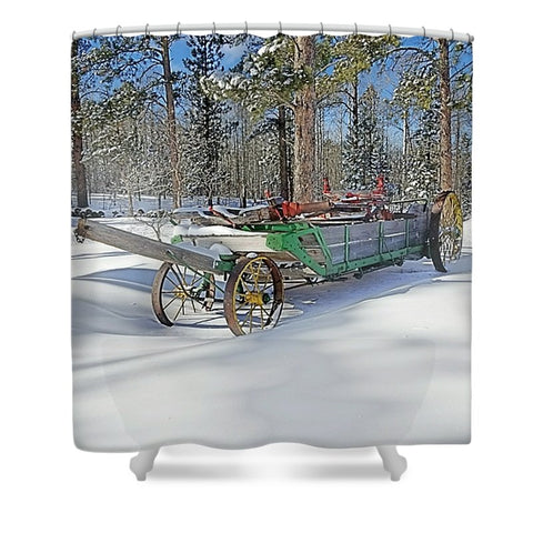 Manure Spreader Shower Curtain