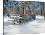 Manure Spreader Canvas Print