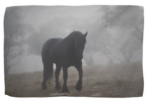 Medieval in the Mist Kitchen Towel