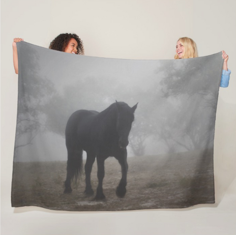 Medieval in the Mist Fleece Blanket