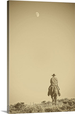 Moonrise Ride Canvas Print