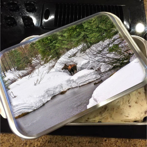 Moose in Alaska Cake Pan with Lid