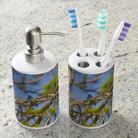 Mountain Bluebird Bathroom Set