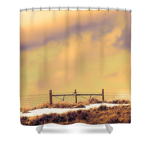 North Gate to Sunset Shower Curtain