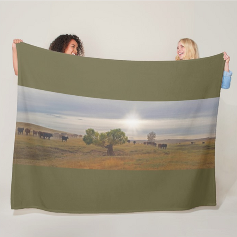 October Drive Fleece Blanket