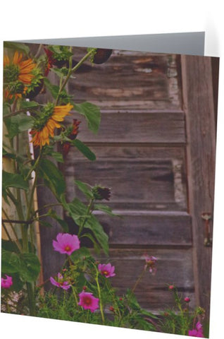 Old Kitchen Door And a Cottage Garden Note Cards and Greeting Cards (25 Pack)