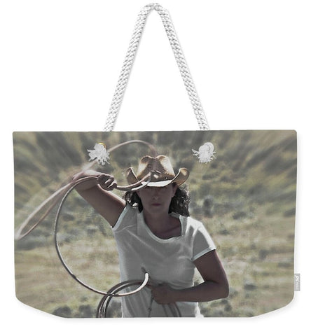 On a Rope and a Prayer Weekender Tote bag
