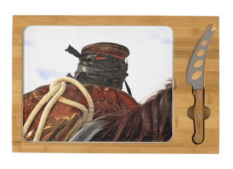 Open Range Roping Saddle Cheese Board