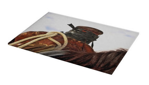 Open Range Roping Saddle Cutting Board