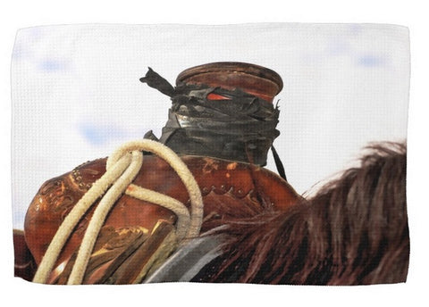 Open Range Roping Saddle Kitchen Towel