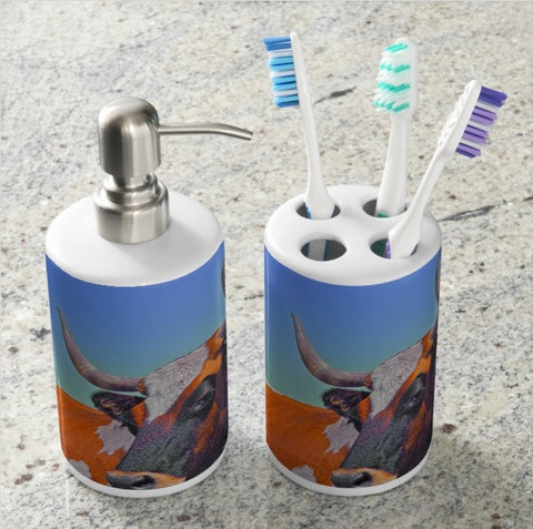 Orange Crush Bathroom Set