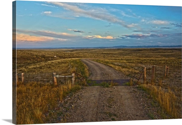Over the Cattle Guard Canvas Print