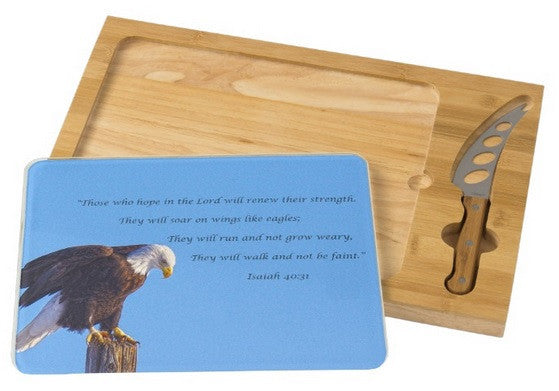 Preparing for Patriotic Flight Eagle Inspirational Cheese Board