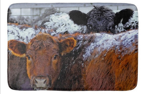Peek a Boo Heifers Bath Mat