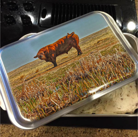 Pigtail Bull Cake Pan with Lid