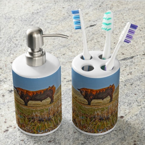 Pigtail Bull Bathroom Set