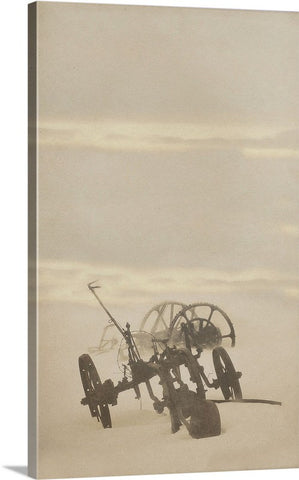 Plow in Blizzard Canvas Print